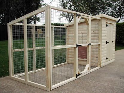 Dog Kennel and Runs. The run is optional for this cabin dog kennel ...