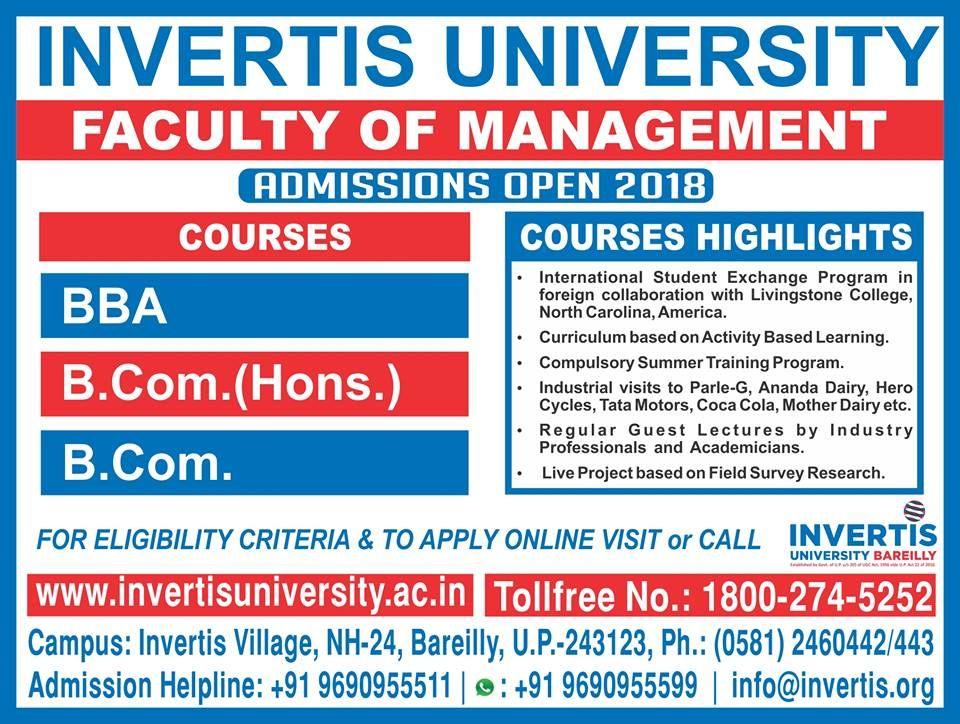Invertis University Top private engineering university in