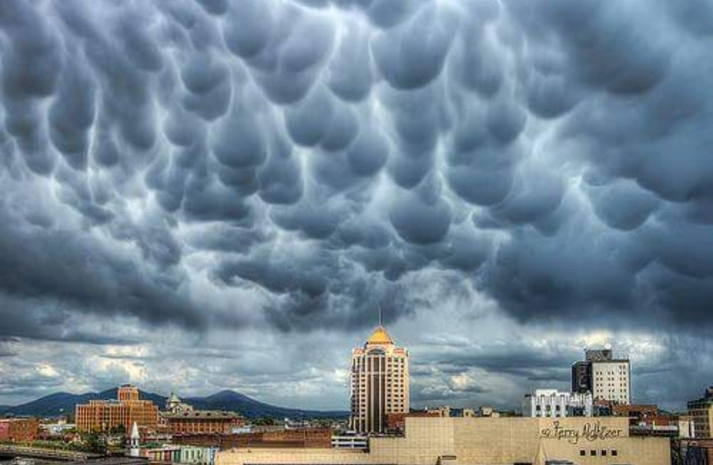 Mammatus Wolken