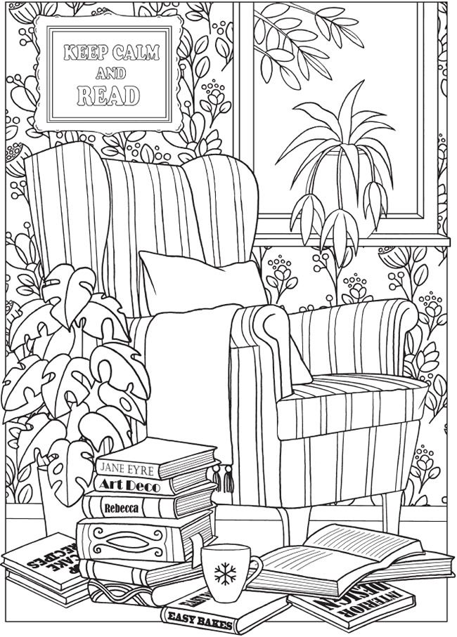 Coloring Page Welcome To Dover Publications