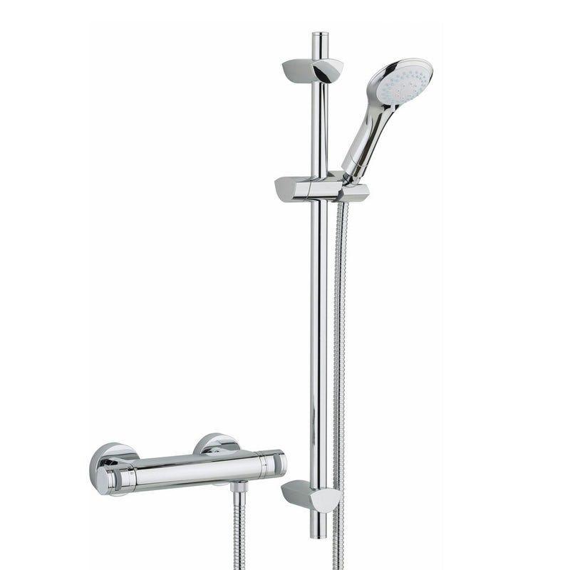 Bristan Artisan Thermostatic Bar Shower Valve With Slider Rail Kit