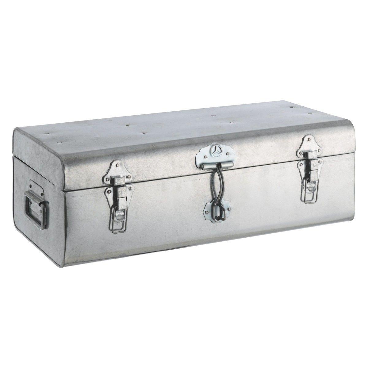 Trunk Silver Galvanised Storage Box