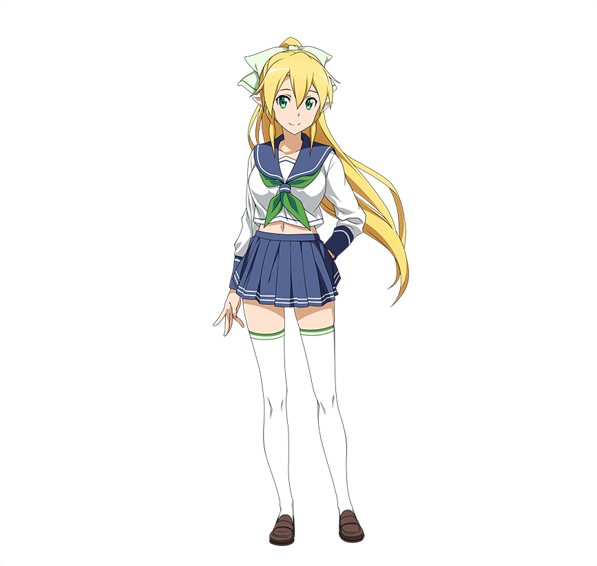 1girl blonde_hair full_body green_eyes hand_on_hip high