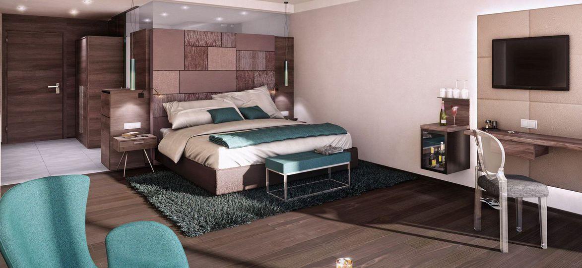 Gästezimmer Boxspringbett Bettwand Haus, Bett und Luxus