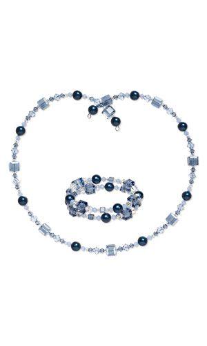 Memory Wire Swarovski Necklace & Bracelet