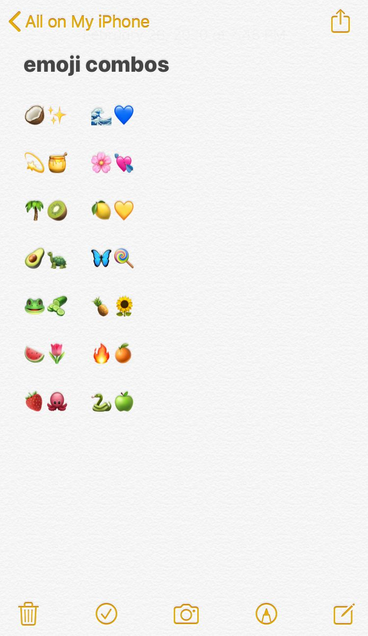 Cute Emoji Combos In 2020 Emoji Combinations Emoji Emoji For Instagram