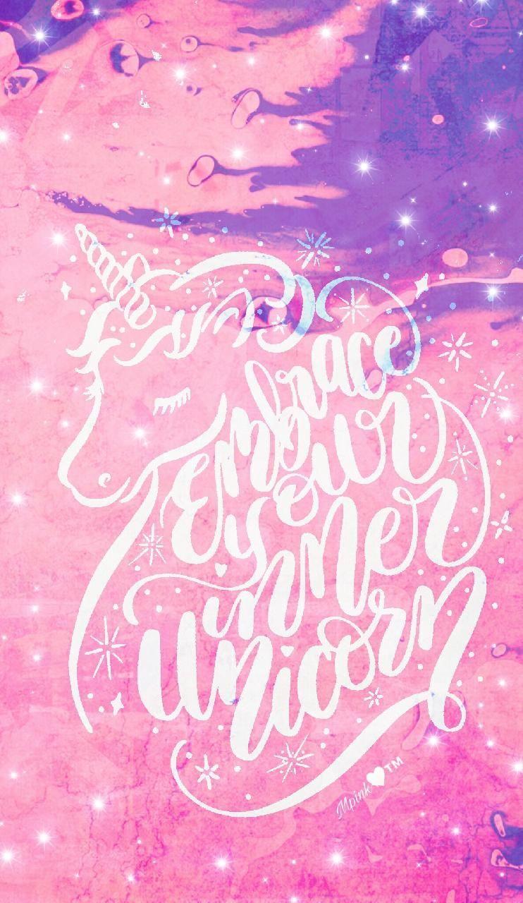 Galaxy Calligraphy Galaxy Glitter Unicorn Wallpaper