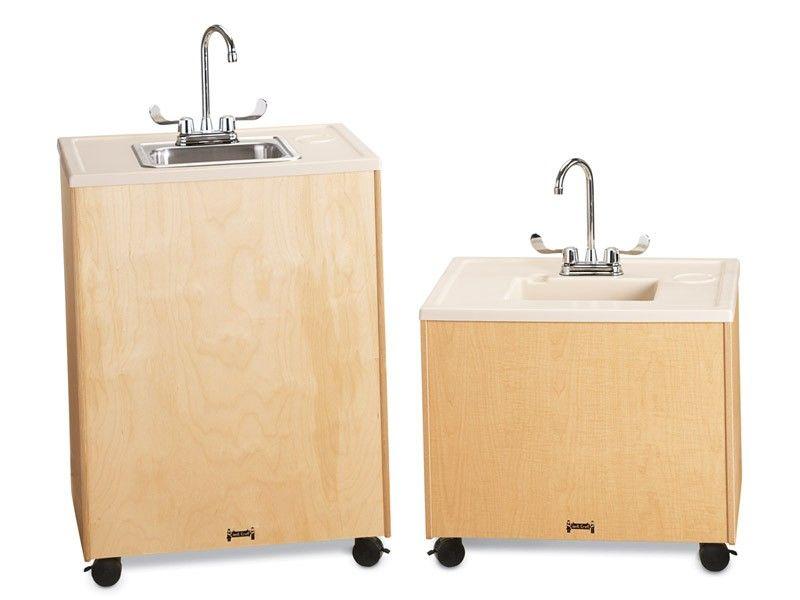 Jonti Craft Birch Clean Hands Helper 38 Stainless Steel Sink Portable Sink Sink Portable Sinks