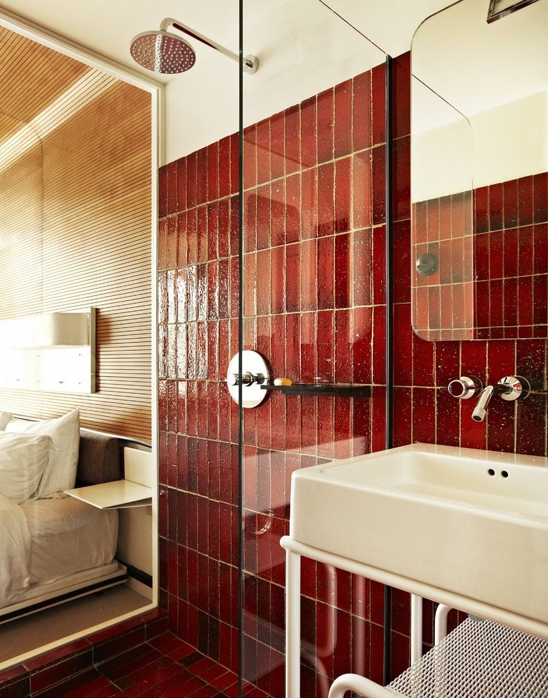 What Do The Facebook Offices And Zoolander Have In Common Roman And Williams Retro Bathrooms Hotel Interiors