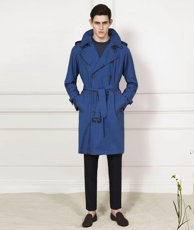Men's Aquascutum Cobalt Blue Trench Coat | Cool Fashion Men´s Wear ...