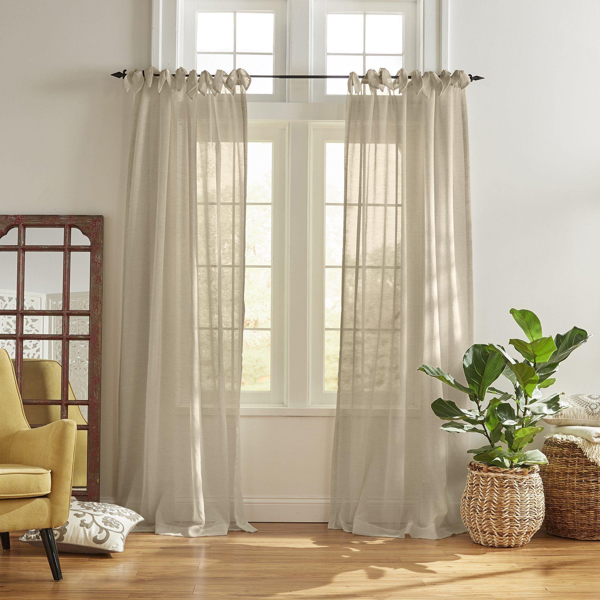 Vienna Tie Top Sheer Window Curtain In 2020 Panel Curtains