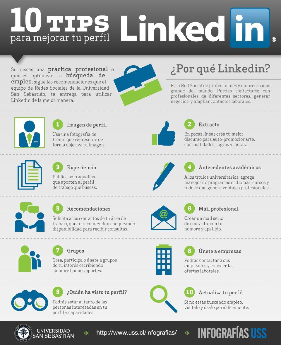 10 tips para mejorar tu perfil en linkedin | Infografías USS ...