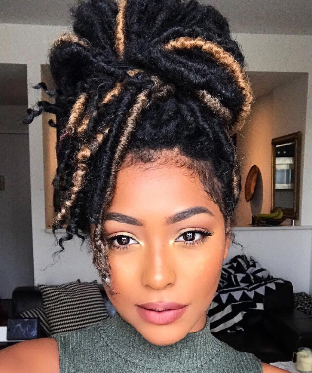 Ighlighted Faux Locs Faux Locs Hairstyles Locs