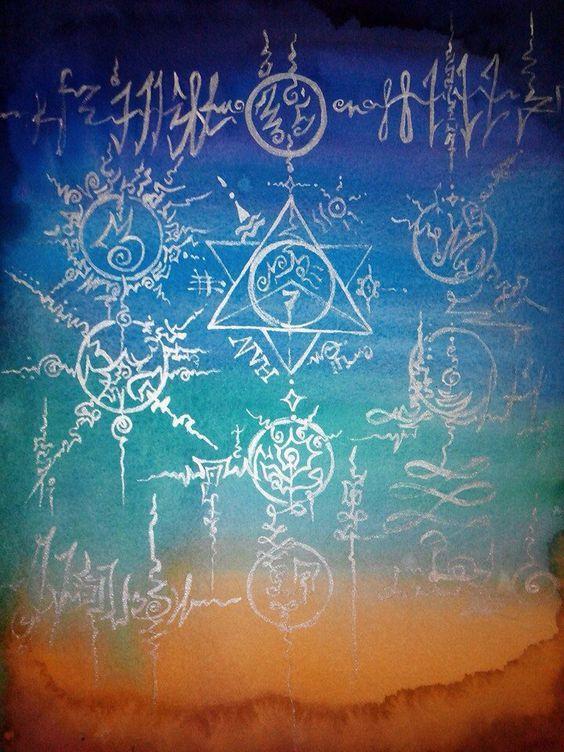 Watercolor With Light Language Symbols And Merkaba Merkaba Light