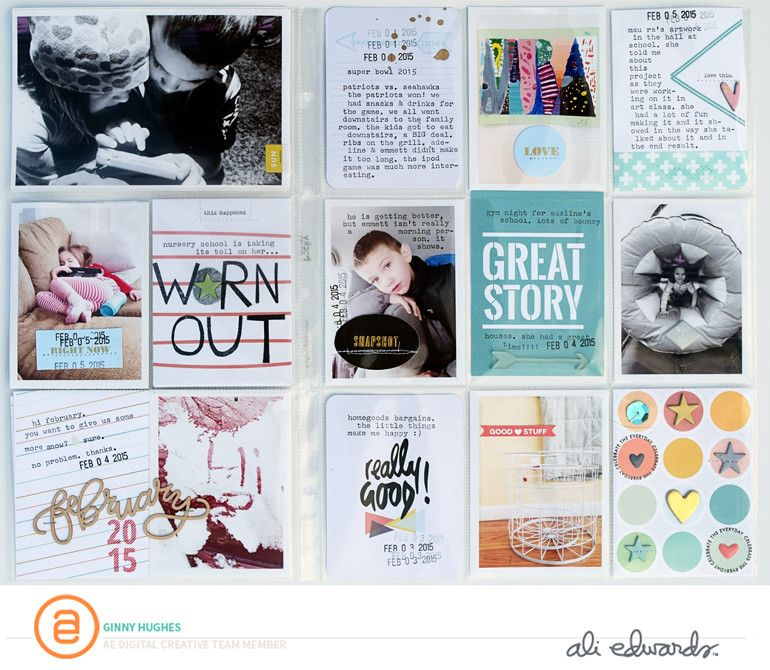 Great Story 3x4 Cards example by Ginny Hughes for aliedwards.com #craftthestory