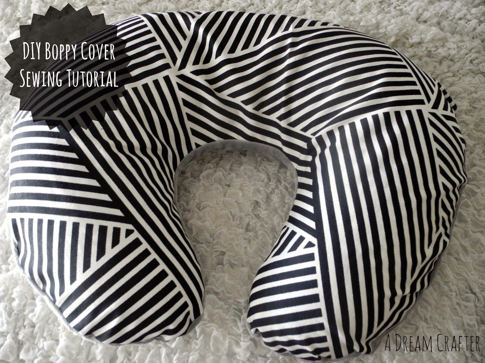 Boppy Cover Sewing Tutorial: Dream Crafter | Boppy cover, Tutorials ...