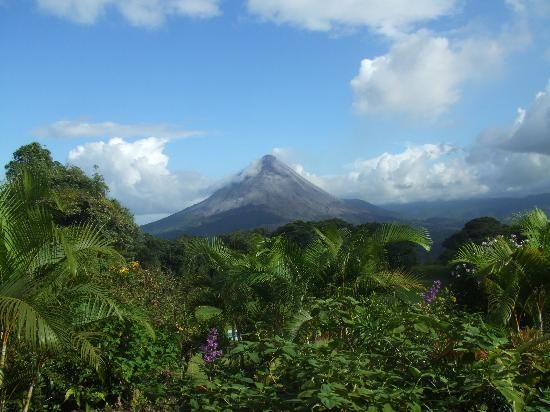 La Fortuna - Costa Rica. We ziplined through the rainforest here. We were 25.