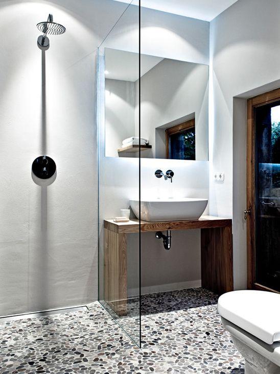 Aménagement du0027une salle de bain contemporaine de taille moyenne avec