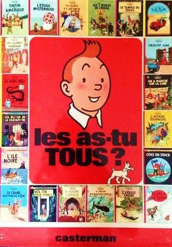 Qui n'a pas lu toutes les aventures de Tintin ?