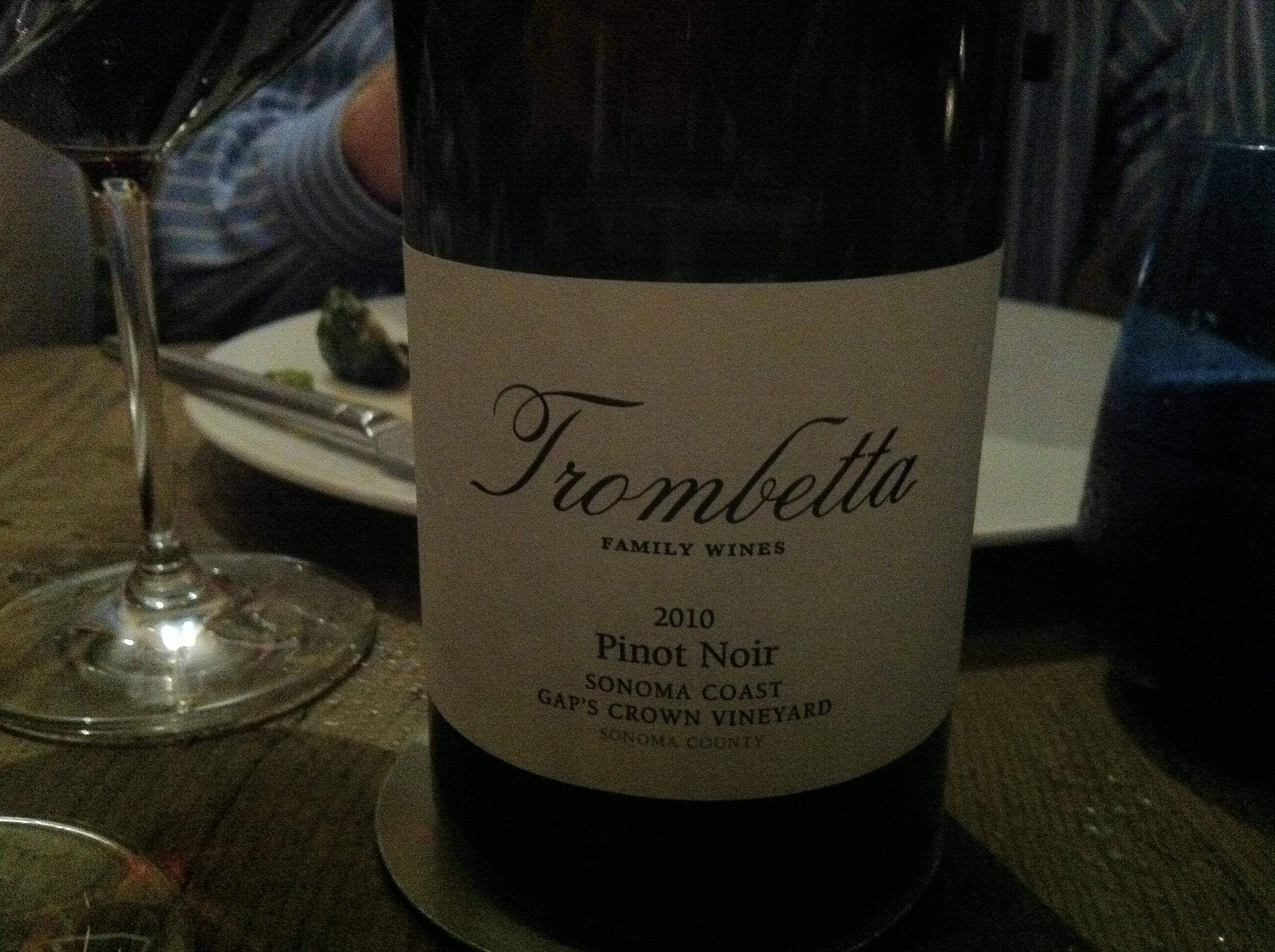 Delicious plummy and sweet with some earthy notes.  Small vineyard Italian family. 80ish at broadway Laguna beach