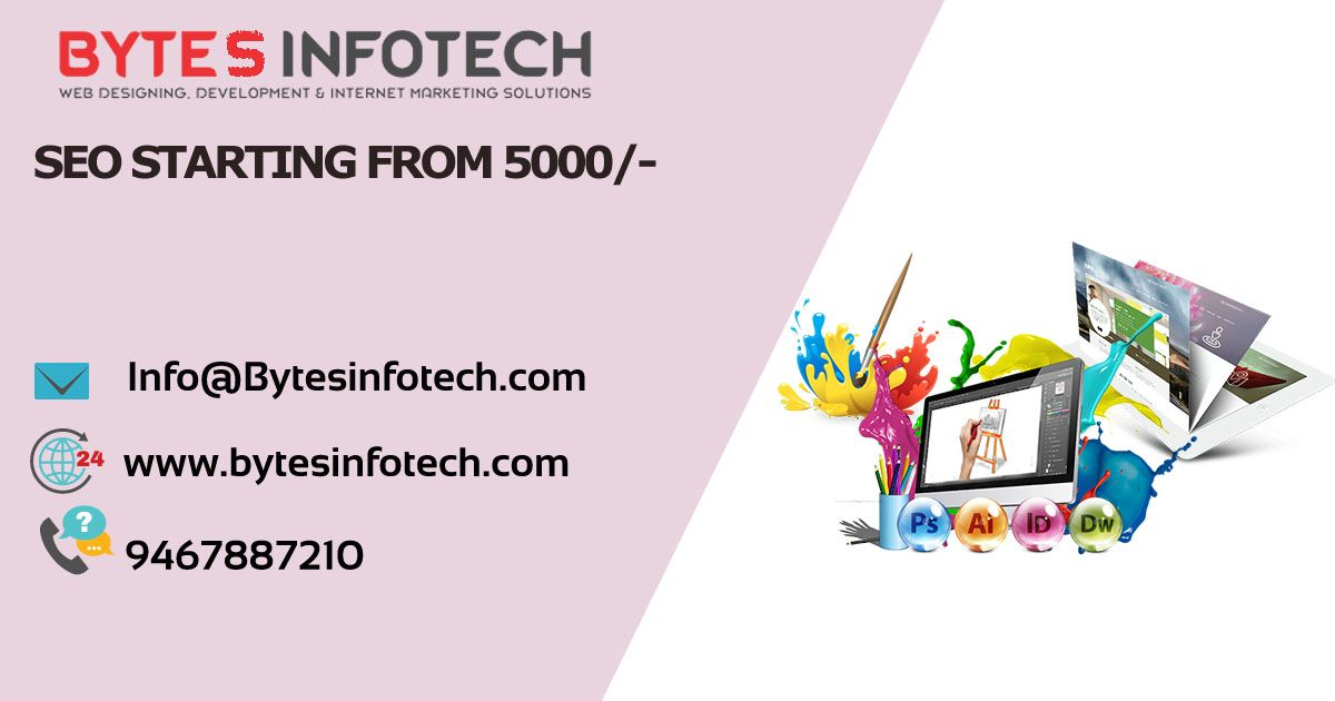 Www Bytesinfotech Com We Offer Dedicated Creative Team That Can Deliver Innovative And Customized Concepts Logo And Online Marketing Services Web Design Web Design Company