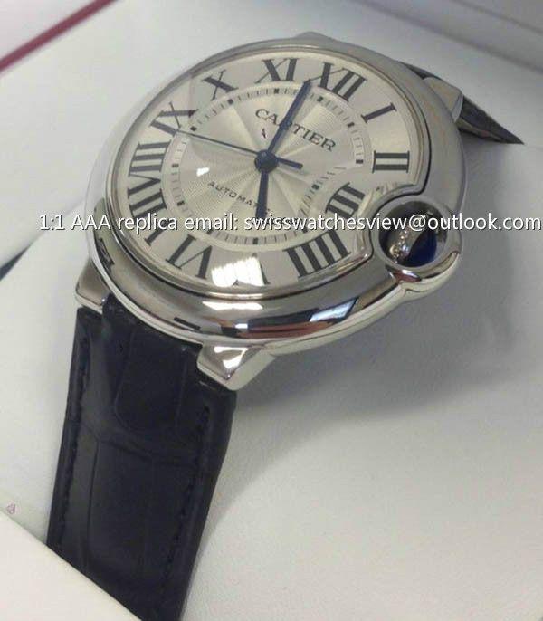 Cartier Ballon Bleu De Cartier Automatic Leather 36mm Watch