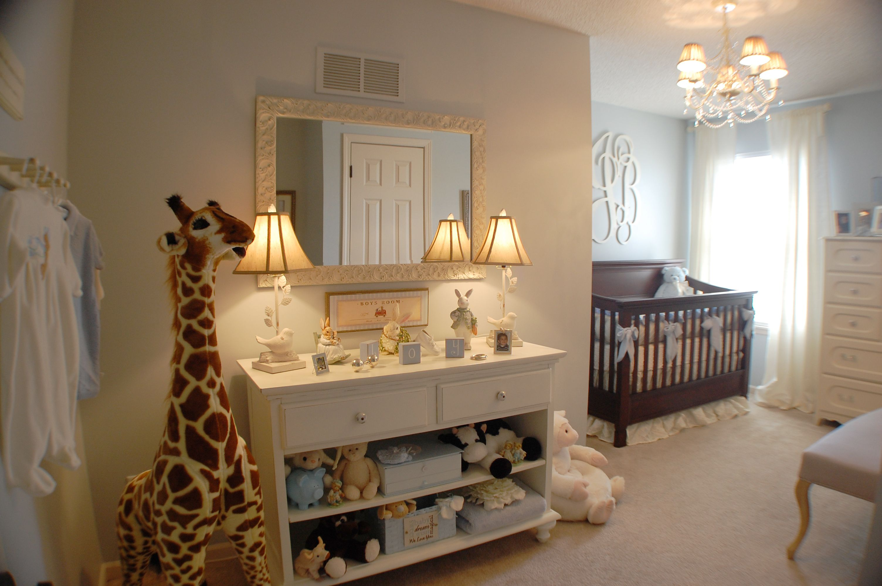 Baby Boy Nursery With Giraffe Love Big