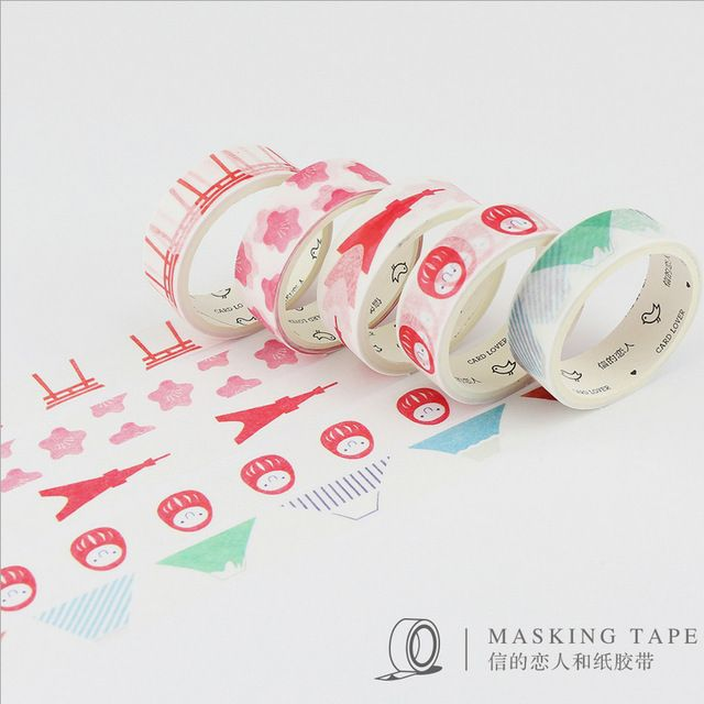 5 pcs/box Local conditions  washi tape DIY decorative scrapbook masking tape office adhesive tape stationery school supplies