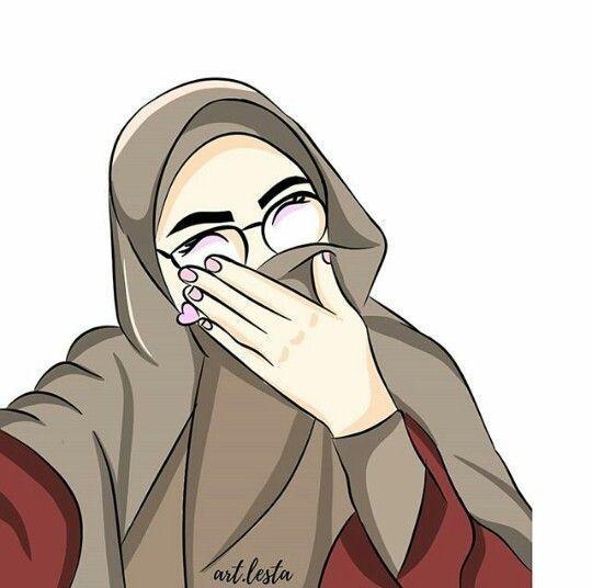 Gambar Kartun Wanita Muslimah Sedih 150 Gambar Kartun Muslimah Berkacamata Cantik Sedih Terlengkap Kartun Gambar Ilustrasi Orang