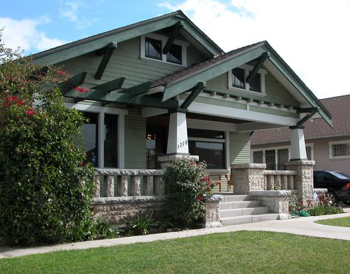Beautiful craftsman architecture what a treasure on - What is a bungalow style home ...