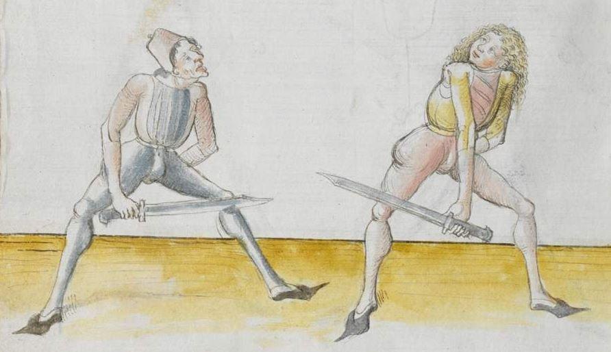 Lecküchner, Hans: Kunst des Messerfechtens Nordbayern, 1482 Cgm 582 Folio 70