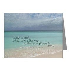 Love Notes To The Beach Anything Is Note Cards