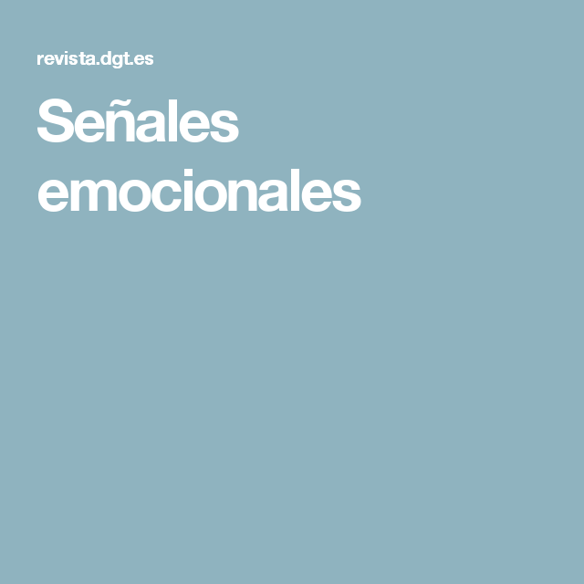 Señales emocionales
