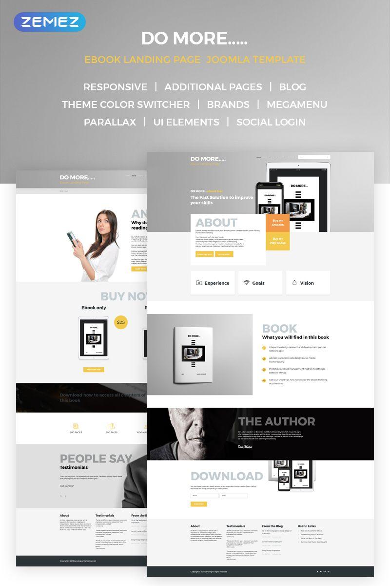 Ebook Landing Page Joomla Template 68668 Design Saves