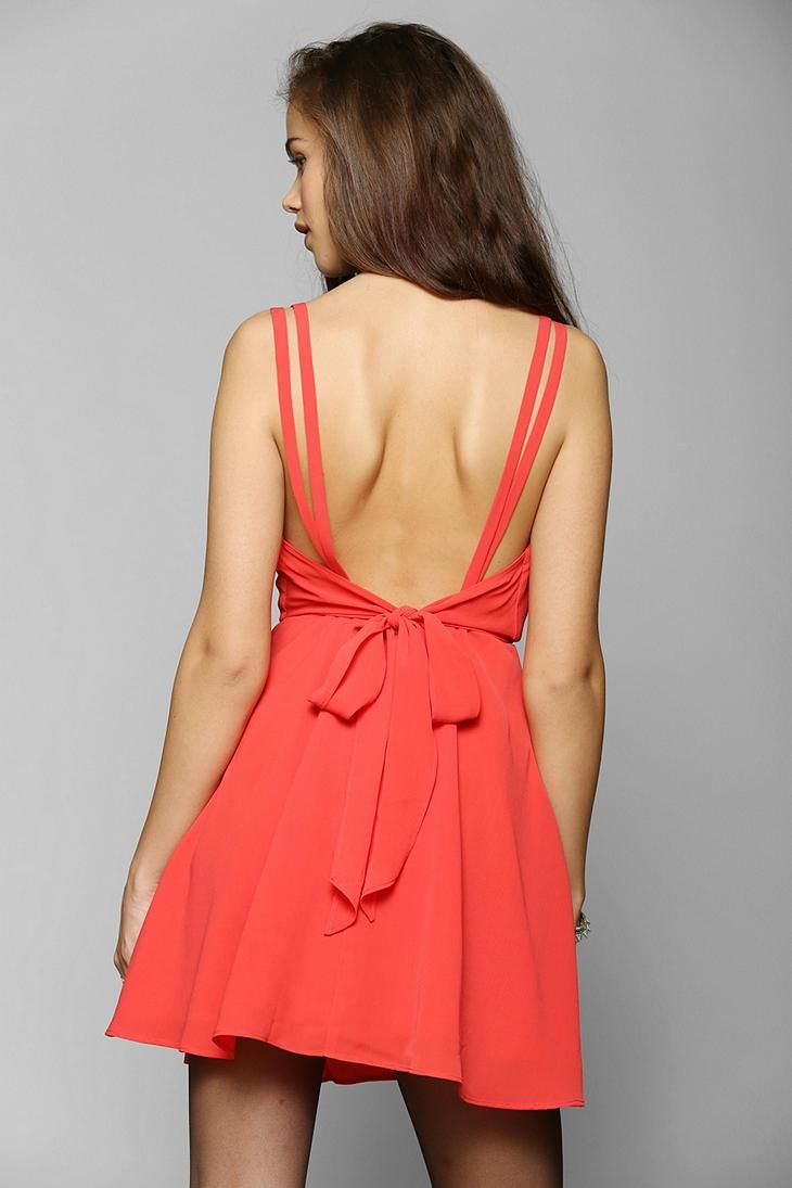 Pins And Needles Crepe Surplice Dress #urbanoutfitters
