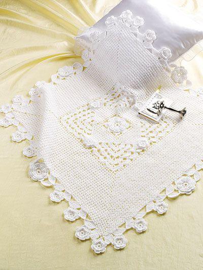 Christening Blanket Crochet Pattern   Mezgimas   Pinterest   Tejido ...