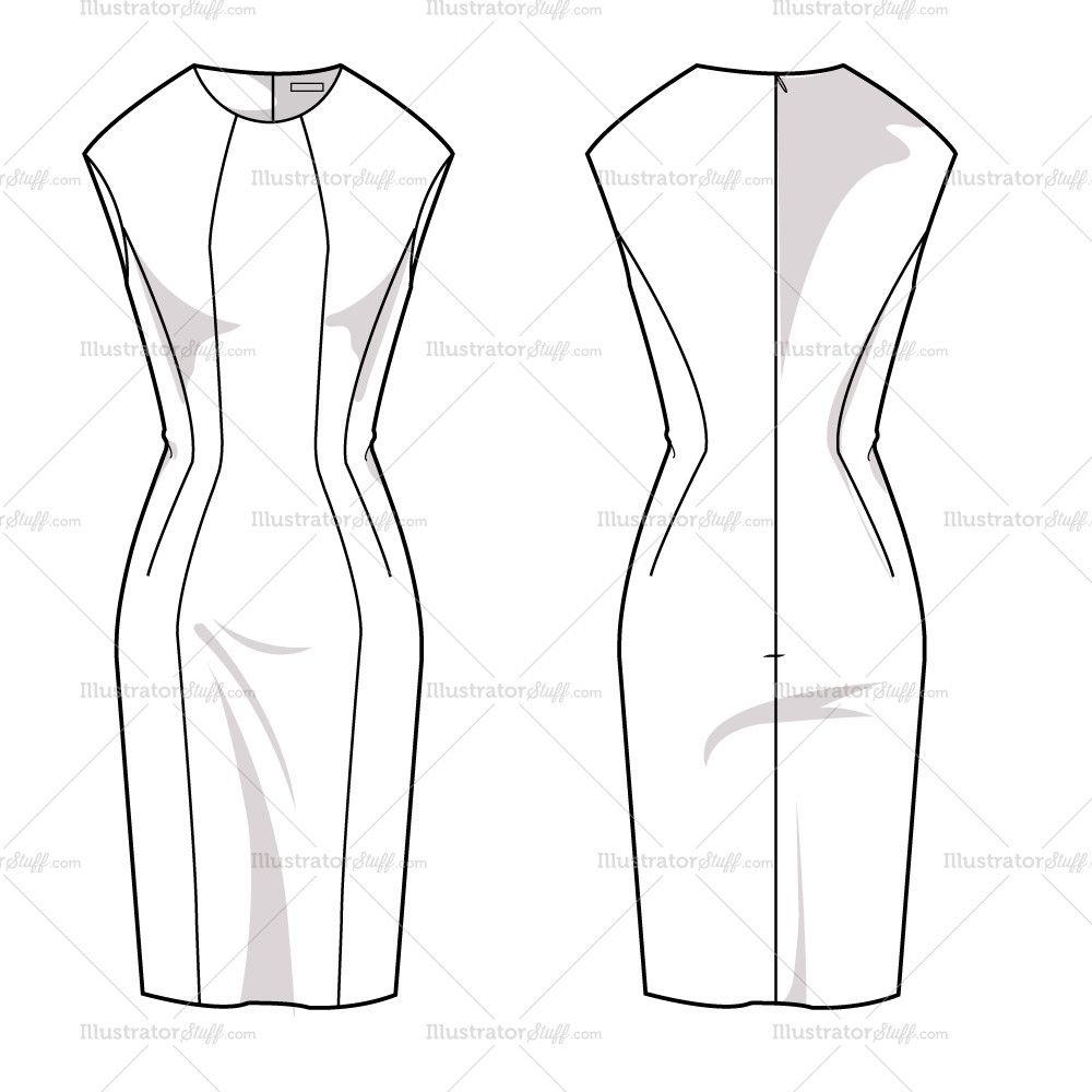 Product Image Fashion Design Sketches Sketch Template Templates