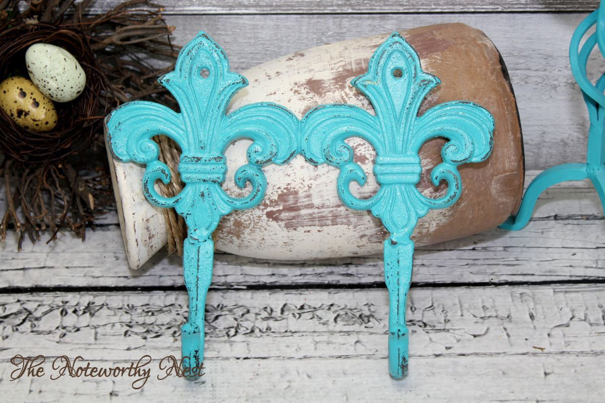 ANY YOUR COLOR: Fleur De Lis hook // cast iron hook // coat hook ...