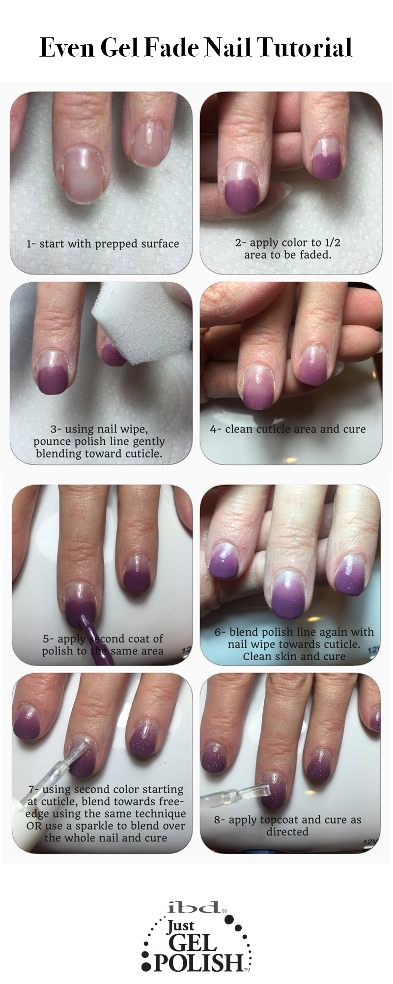 Even Gel Fade Ombre Nail Tutorial Using Sweet Sanctuary And Fireworks Justgel Polish Ombre Gel Nails Ombre Nails Tutorial Ombre Nails