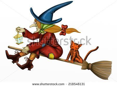 Brujas En Escoba Fotos Imágenes Y Retratos En Stock Brujas Arte Creativo Fotos