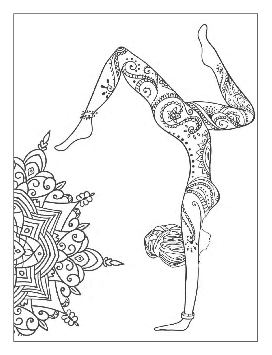 yoga and meditation coloring book for adults with yoga poses and mandalas coloring pages. Black Bedroom Furniture Sets. Home Design Ideas