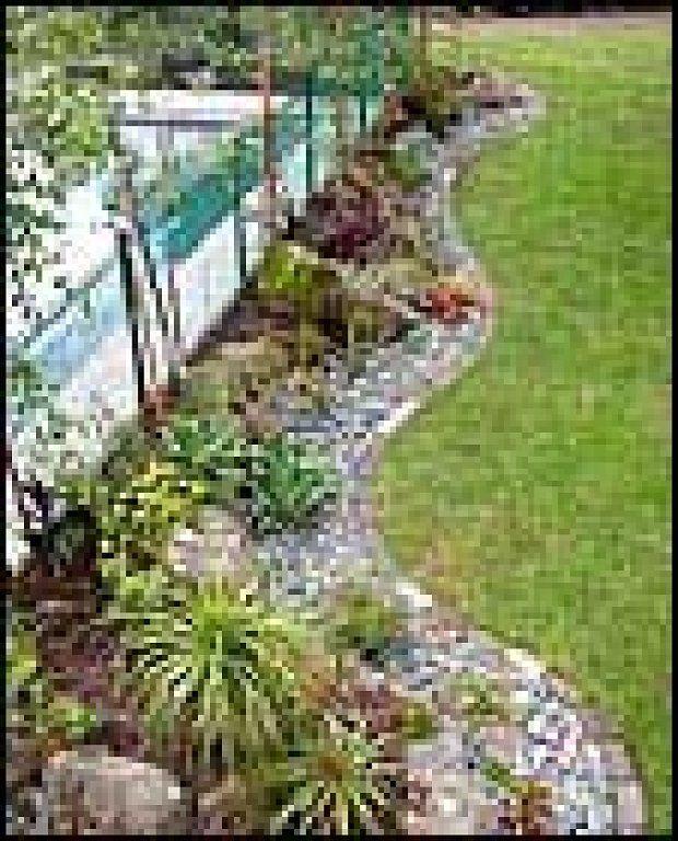 jardines pequeños con piedras inspiración de diseño de interiores