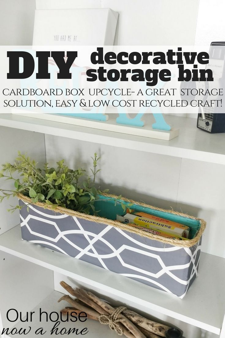 diy decorated storage boxes. DIY Decorative Storage Bin, Simple Craft Recycle Project. Perfect Way To Hide Kids Toys With This Cardboard Box Upcycle. Diy Decorated Boxes O