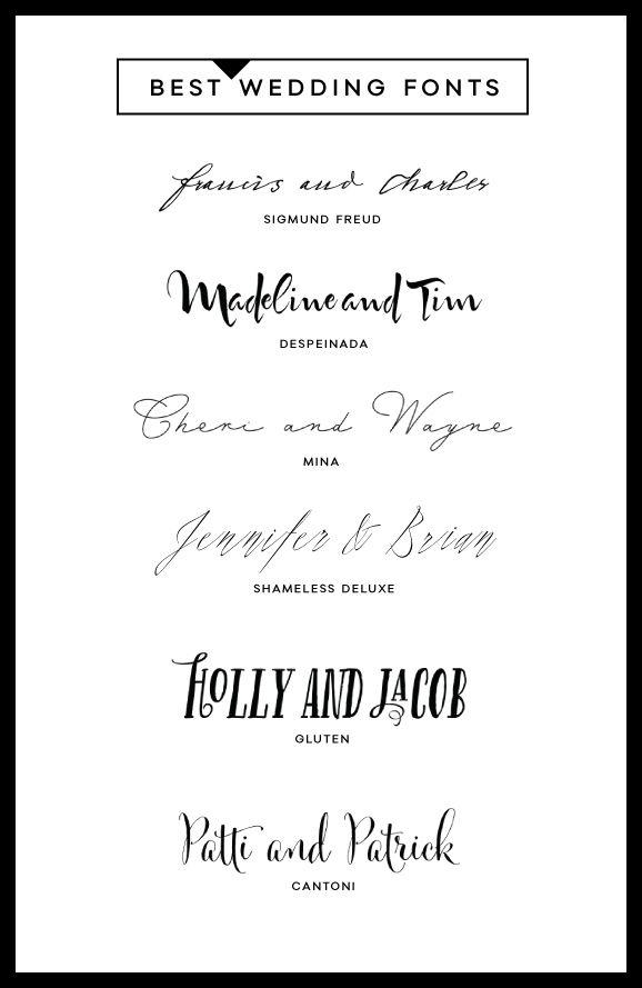 6 Best Wedding Fonts Typography Pinterest Fonts, Weddings and - best of wedding invitation design fonts