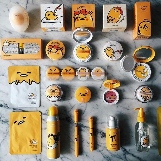 #HolikaHolika X #Gudetama ⚡️⚡️⚡️⭐️⭐️⚡️⚡️⚡️ Lazy&Easy  bb cushion, blush on, lipsticks, dry shampoo, powder and etc ✨