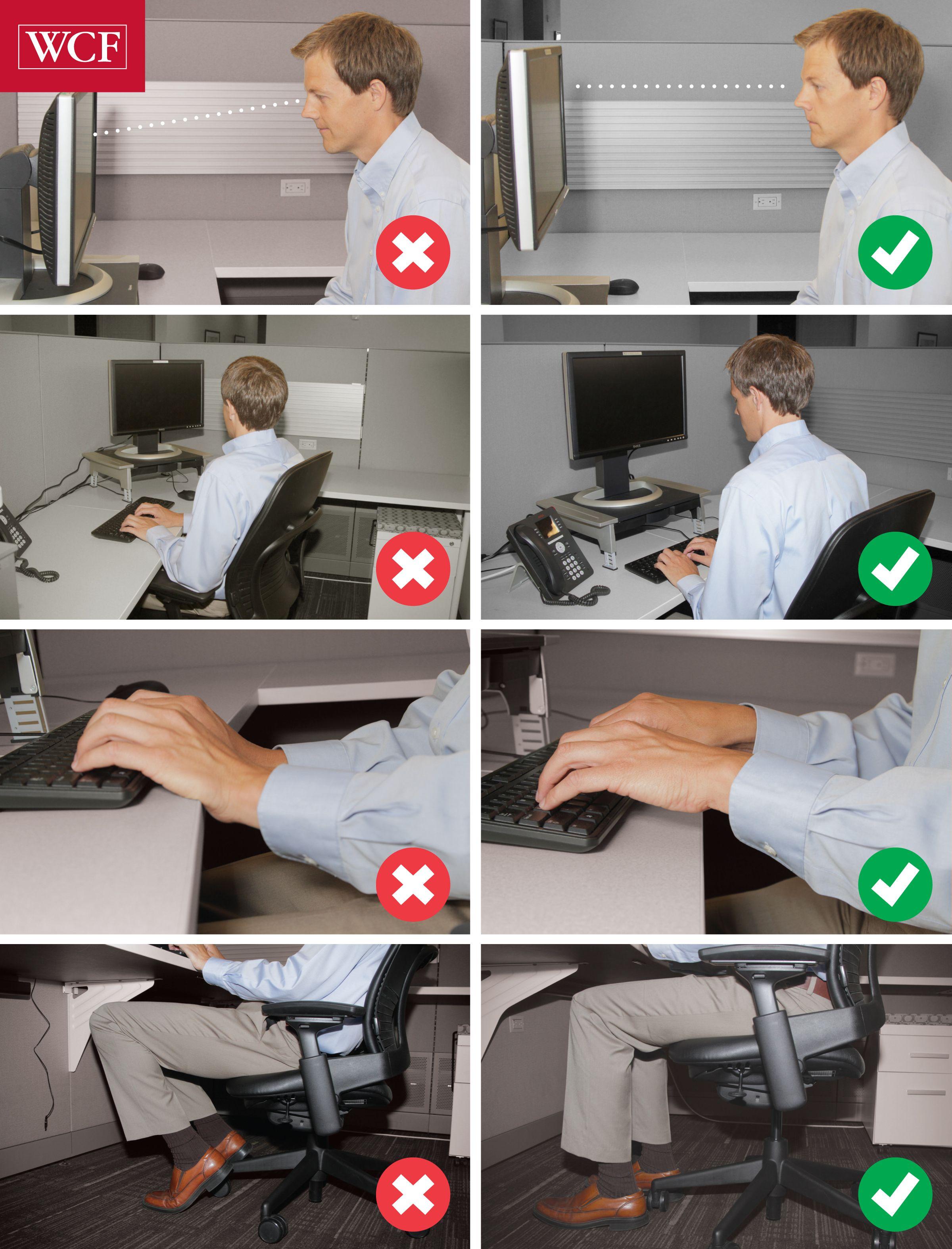 Posture good vs bad safety
