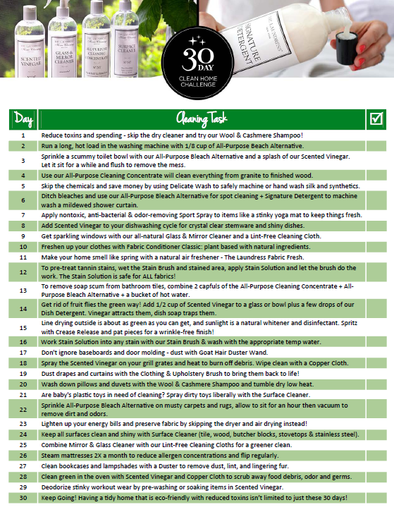 Download in link: Use this checklist to keep ALL laundry and home cleaning to-dos at top of mind! Perfect for hanging in your laundry room or kitchen. #TheLaundress #Clean #Checklist