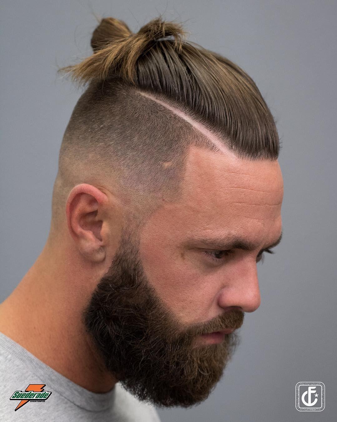Man Bun Hard Part Men S Haircuts Coiffure Homme Coupe Cheveux Homme Cheveux Homme