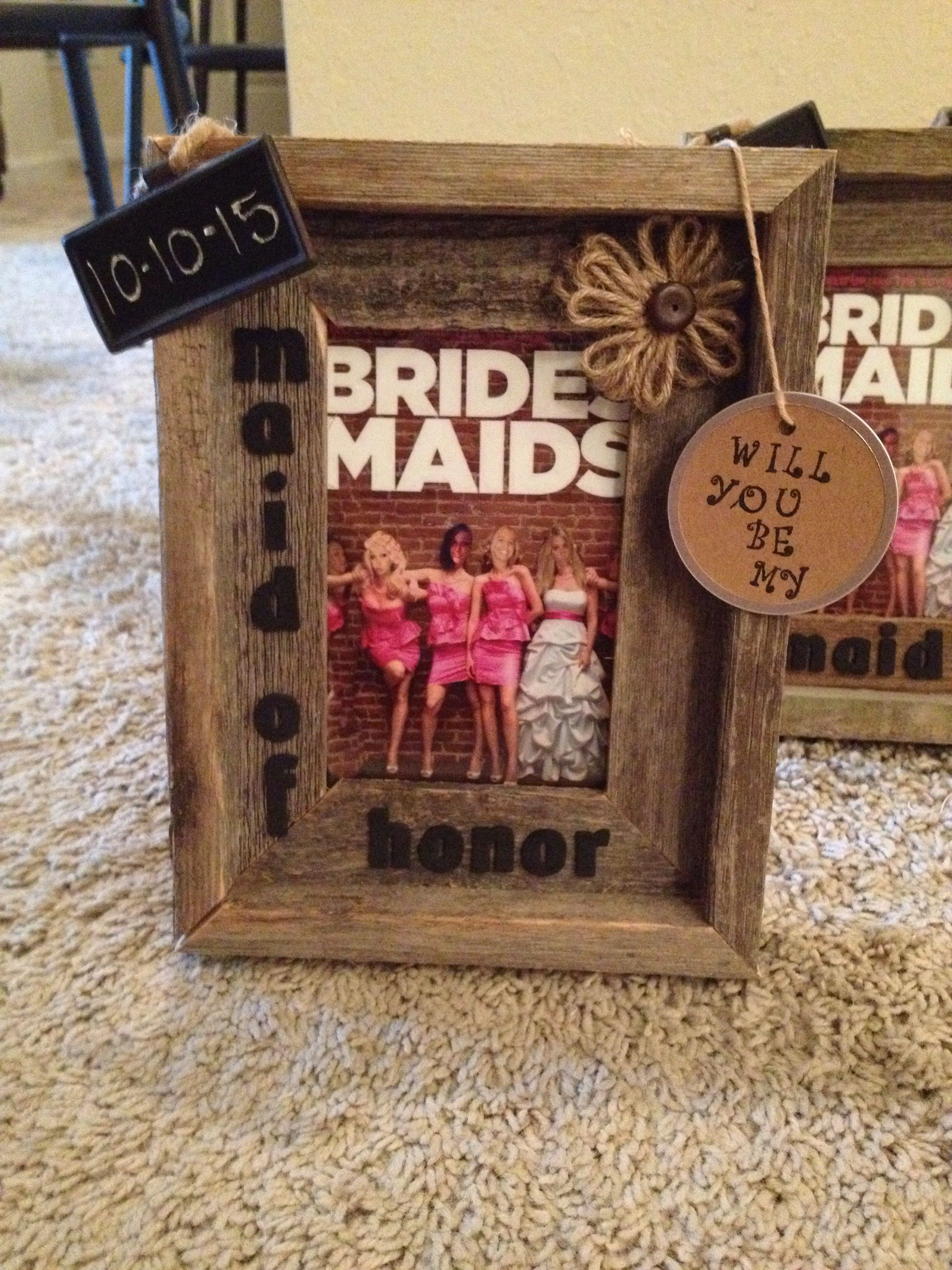 How I Asked My Bridesmaids To Be In Wedding Rustic Diy