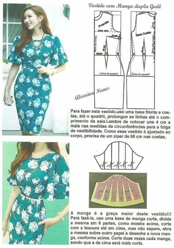Pin de Isabel Espejo Gonzalez en Patrones vestidos | Pinterest ...